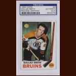Dallas Smith 1969 Topps – Boston Bruins - Autographed – PSA/DNA