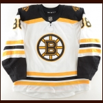 2018-19 David Pastrnak Boston Bruins Game Worn Jersey – 1st All Star Season – Photo Match – Team Letter