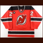 "2005-06 David Hale New Jersey Devils Game Worn Jersey – ""JM"" – Photo Match – Team Letter"