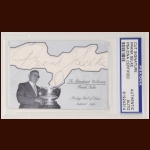 Frank Selke Autographed Card - The Broderick Collection - Deceased