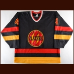 1989-90 Trent Cull Owen Sound Platers Game Worn Jersey – Rookie - Inaugural Season