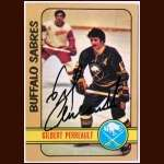 1972-73 Topps  #120 Gilbert Perreault Sabres - Autographed