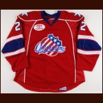 2008-09 Kenndal McArdle Rochester Americans Game Worn Jersey – AHL Letter
