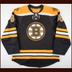 2014-15 Kevan Miller Boston Bruins Game Worn Jersey - Photo Match – Team Letter