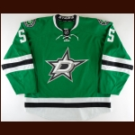 2013-14 Sergei Gonchar Dallas Stars Game Worn Jersey - Photo Match – Team Letter