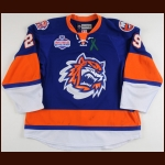2012-13 Brock Nelson Bridgeport Sound Tigers Game Worn Jersey - Photo Match – Team Letter