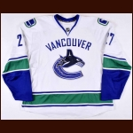 2007-08 Brad Isbister Vancouver Canucks Game Worn Jersey - Photo Match