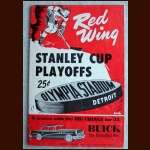 1954 Stanley Cup Finals Detroit Red Wings Full Program