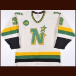 "1987-88 Bob Rouse Minnesota North Stars Game Worn Jersey – ""JM"""
