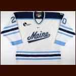 "2001-02 Cameron Lyall University of Maine Game Worn Jersey – ""SW"""
