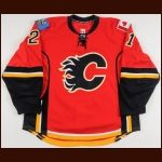 2007-08 David Hale Calgary Flames Game Worn Jersey - Photo Match – Team Letter