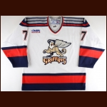 2006-07 Stephane Goulet Grand Rapids Griffins Game Worn Jersey – Rookie