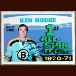 1971-72 OPC Ken Hodge AS Boston Bruins Autographed Card