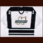 "1997-98 Tony Hrkac Michigan K-Wings Game Worn Jersey – ""30-year PHPA"" – Team Letter"
