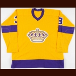1976-77 Larry Brown Los Angeles Kings Game Worn Jersey