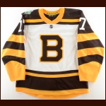 "2018-19 Ryan Donato Boston Bruins Winter Classic Game Issued Jersey – ""2019 Winter Classic"" – Team/Winter Classic Letter"