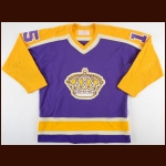 1980-81 Andre St. Laurent Los Angeles Kings Game Worn Jersey - Photo Match