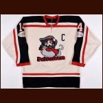2012-13 Chris Greene 1000 Islands Privateers Game Worn Jersey – Team Letter