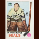 1969-70 Charlie Hodge Oakland Seals Autographed Card – Deceased