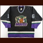 1995-96 Sandy Smith Minnesota Moose Game Worn Jersey - Career Best 35-Goal 41-Assist & 76-Point Season