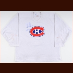 1980's Chris Chelios Montreal Canadiens Practice Worn Jersey – Autographed - The Chris Chelios Collection – Chris Chelios Letter