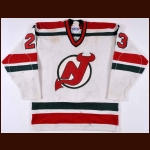 1982-83 Mike Antonovich New Jersey Devils Game Worn Jersey - Inaugural Season