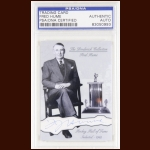 Fred Hume Autographed Card - The Broderick Collection - Deceased