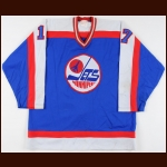 1982-83 Larry Hopkins Winnipeg Jets Game Worn Jersey