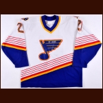 1994-95 Guy Carbonneau St. Louis Blues Game Worn Jersey – The Guy Carbonneau Collection – Guy Carbonneau Letter