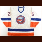 1989-90 David Volek New York Islanders Game Worn Jersey – The Terrence Murphy Collection – Joe Murphy Letter