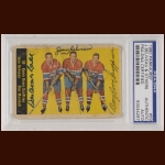 "Montreal Canadiens Standouts 1960 Topps – Bernie ""Boom Boom"" Geoffrion (Deceased), Jean Beliveau (Deceased) & Don Marshall Boom Geoffrion (d. 2006), Jean Beliveau (d. 2014)"