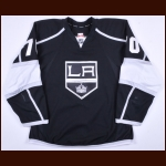 2013-14 Tanner Pearson Los Angeles Kings Game Worn Jersey – Rookie - Stanley Cup Season - Photo Match – Team Letter