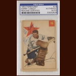 Harry Lumley 1954 Parkhurst - Toronto Maple Leafs - Autographed - Deceased - PSA/DNA