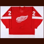 1995-96 Dino Ciccarelli Detroit Red Wings Game Worn Jersey – 70-year Anniversary