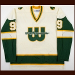 1977-78 Gordie Howe WHA New England Whalers Game Worn Jersey - 1st New England Whalers Jersey - Photo Match – Skip Cunningham Letter