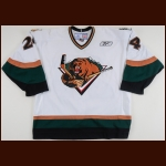 2005-06 Chris Leinweber Utah Grizzlies Game Worn Jersey – ECHL Letter
