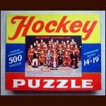 1954 Detroit Red Wings 500 Piece Team Photo Puzzle In Original Box