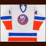 1980-81 Bob Bourne New York Islanders Stanley Cup Finals Game Worn Jersey - Photo Match - Video Match