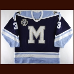1997-98 Jason Cannon Toronto St. Michael's Majors Game Worn Jersey - Inaugural Season