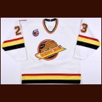 1992-93 Garry Valk Vancouver Canucks Game Worn Jersey