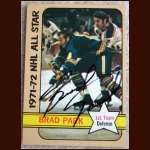 1972-73 Topps Brad Park AS Autographed Card