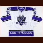 "1998-99 Ray Ferraro Los Angeles Kings Game Worn Jersey – ""EDF"" - Photo Match – Team Letter"