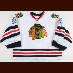 2013-14 Nikolai Khabibulin Chicago Blackhawks Hockey Fights Cancer Warm-Up Jersey