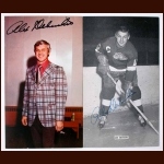 Lot of 2 Alex Delvecchio Detroit Red Wings Autographed Postcards