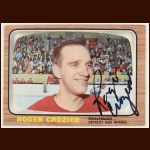 1966-67 Roger Crozier Detroit Red Wings Autographed Card – Deceased
