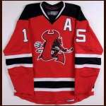 2007-08 Noah Clarke Lowell Devils Game Worn Jersey - AHL Letter - Colorado College Alum