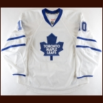 2008-09 Brad May Toronto Maple Leafs Game Worn Jersey – Team Letter