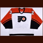 2002-03 Roman Cechmanek Philadelphia Flyers Game Worn Jersey - Jennings Trophy – Team Letter