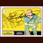1968-69 Bill Goldsworthy Minnesota North Stars Autographed Card - Deceased