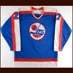 1984-85 Perry Turnbull Winnipeg Jets Game Worn Jersey